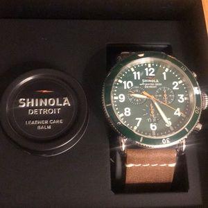 Gently used Shinola RunSport  w/ leather strap
